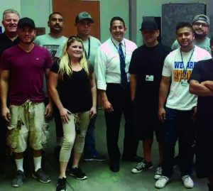 Courtesy Photo/CJUSD: Superintendent Jerry Almendarez (center) with students and staff.