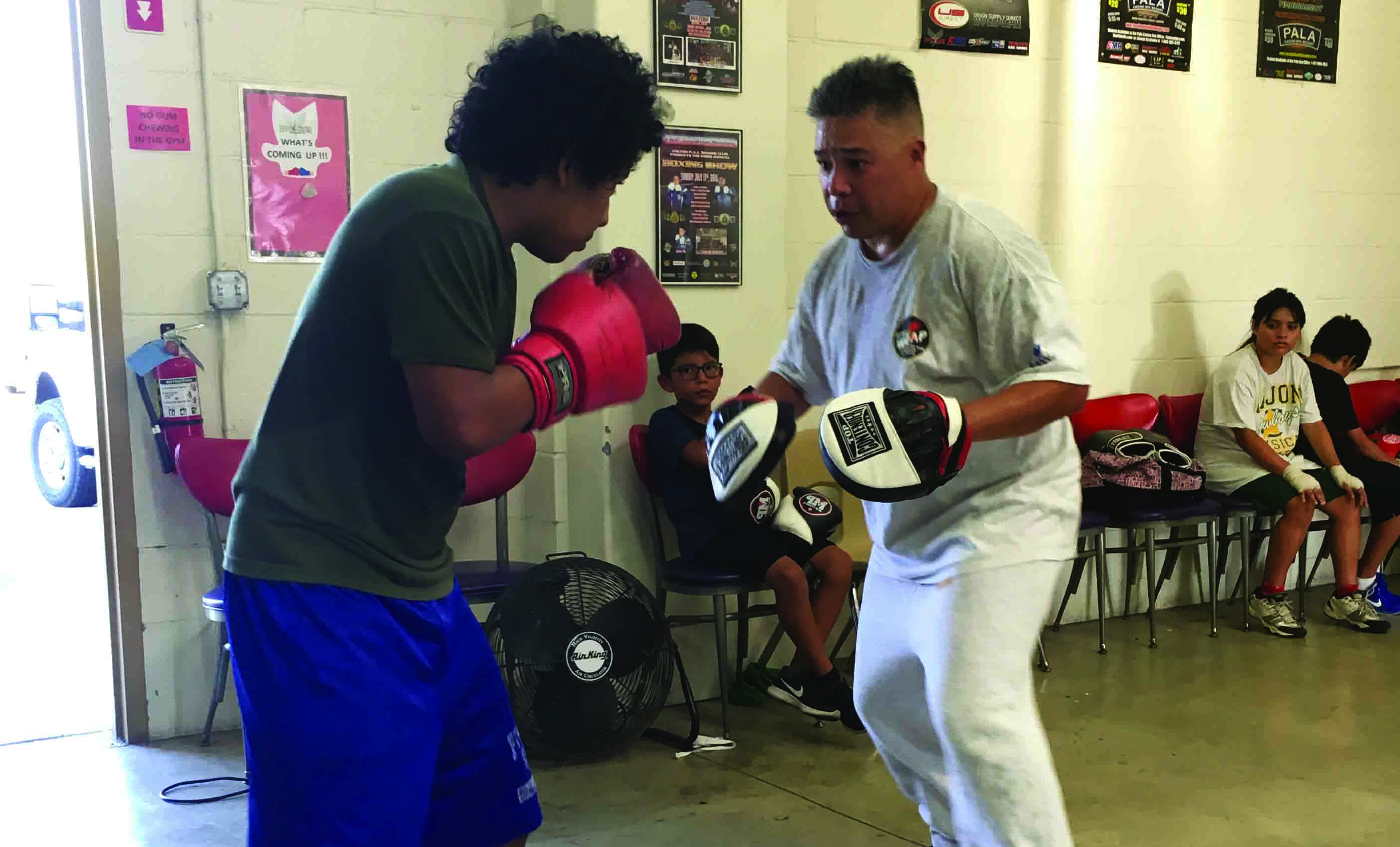 Boxing gym provides officers space to train and mentor