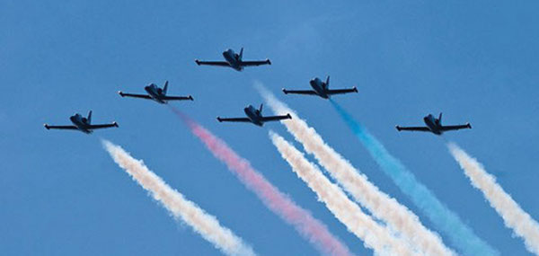 courtesy photo/sbd fest The Patriots Jet Team will headline the second annual SBD Fest Sept. 10 at the SBD International Airport.