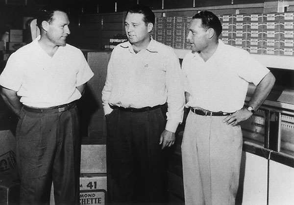 "courtesy photo/stater bros. markets   ""Stater Bros. founders pictured from left to right: Leo, Lavoy and Cleo Stater."""