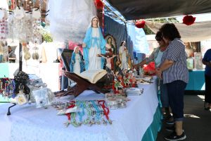 Photo/Anthony Victoria: Small statues of the Virgen de Guadalupe and Jesus Christ.
