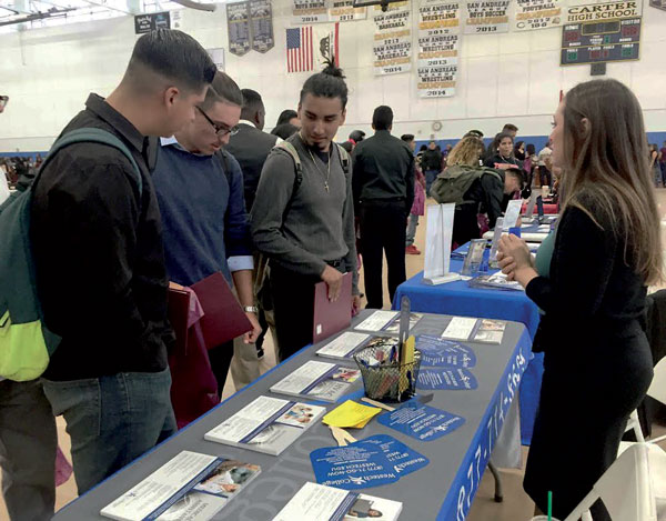 courtesy photo/rusd More than 30 representatives were on hand to offer 'on-site' admission to students during United College Action Network's annual Historically Black College Recruitment Fair Sept. 20 at Carter High.