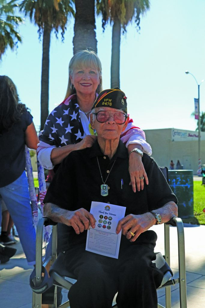 Photo/Anthony Victoria: World War II veteran Robert Rosales with his daughter, Olivia Tierney-Rosales.