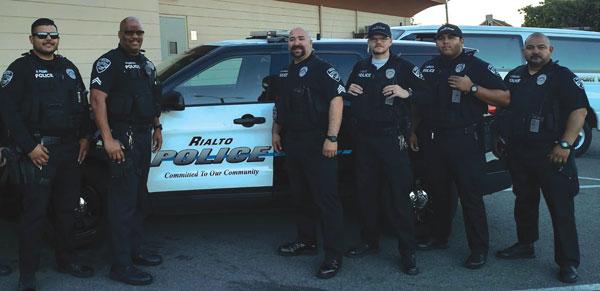 courtesy photo Rialto police take on No Shave November.