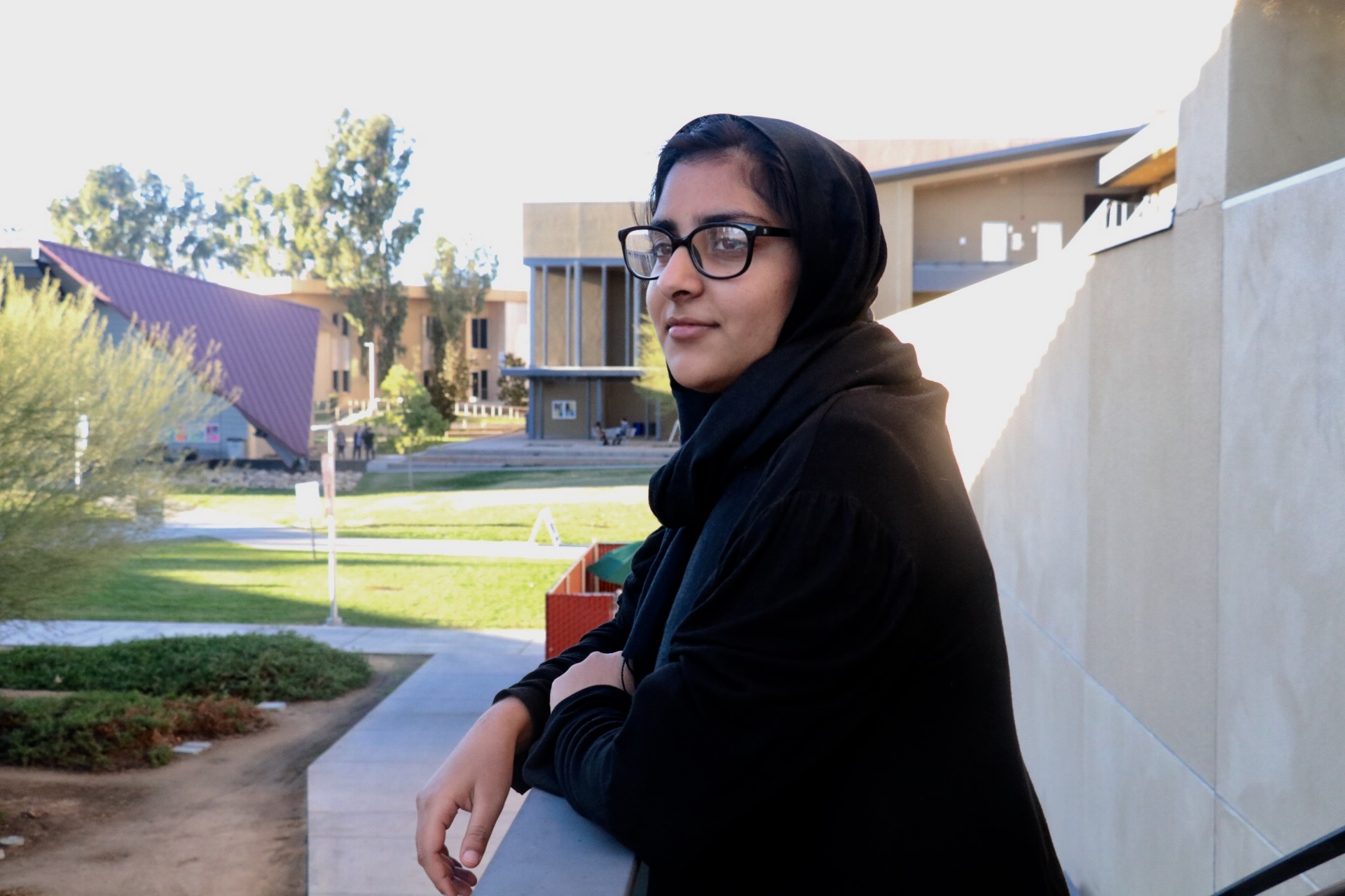 Photo/Anthony Victoria: San Bernardino Valley College student Sadia Khan, 21, said she and her family experienced discrimination for being Muslim in the wake of the terrorist attack that killed 14 people at the Inland Regional Center on December 2, 2015.