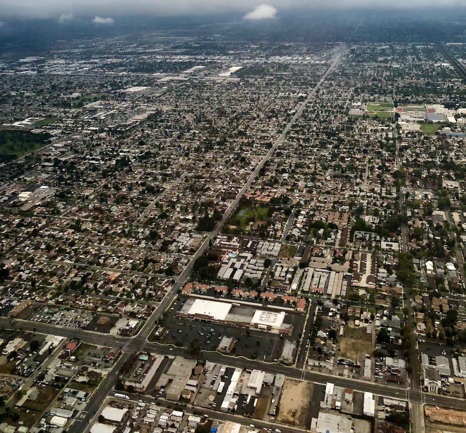 City of San Bernardino overhead shot.'